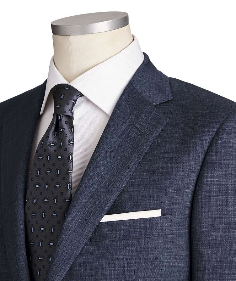 Cosmo Crosshatched Wool-Silk Suit image 1