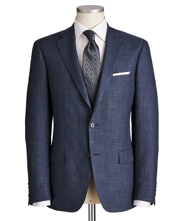 Cosmo Crosshatched Wool-Silk Suit picture 1