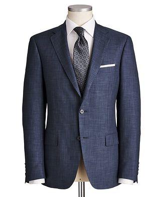 Samuelsohn Cosmo Crosshatched Wool-Silk Suit