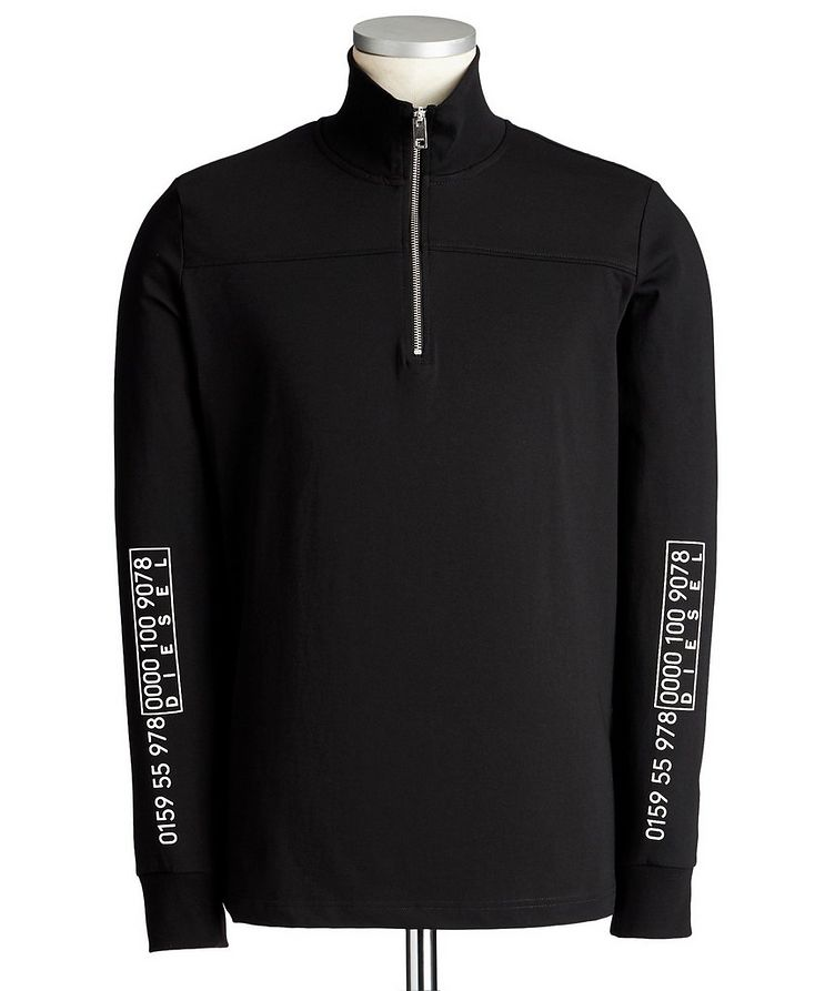 Half-Zip Cotton Sweatshirt image 0