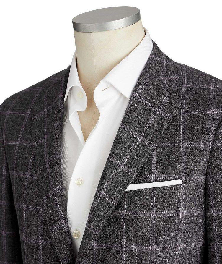 Cosmo Checked Wool-Silk Sports Jacket image 1