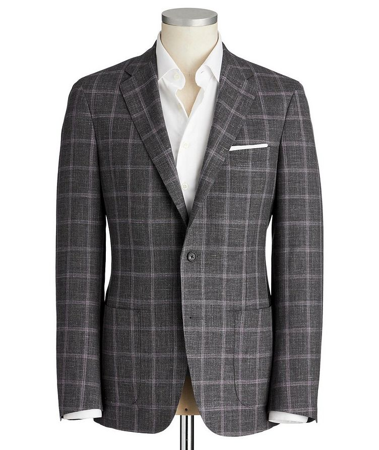 Cosmo Checked Wool-Silk Sports Jacket image 0