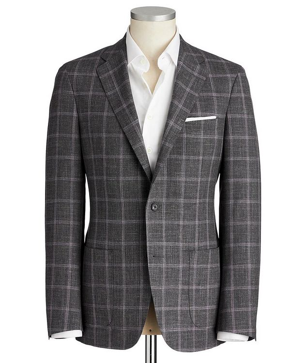 Cosmo Checked Wool-Silk Sports Jacket picture 1