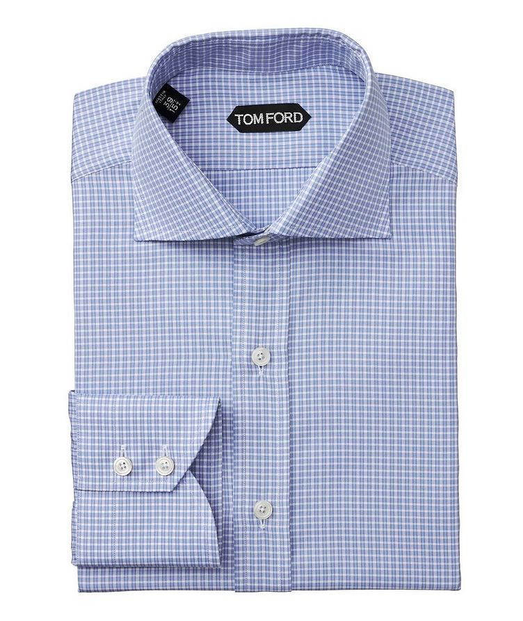 Slim Fit Checked Dress Shirt image 0
