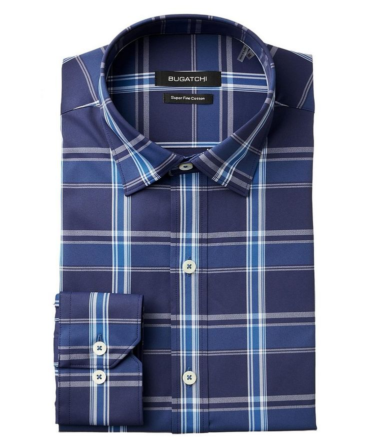 Checked Stretch-Blend Shirt image 0