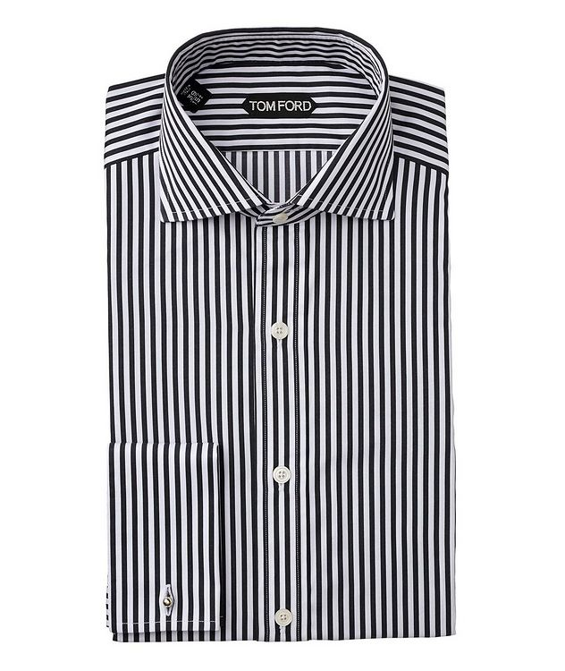 Slim Fit Striped Dress Shirt picture 1