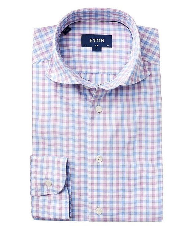 Soft Slim Fit Gingham Shirt picture 1