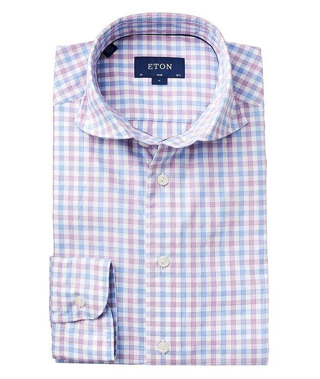 Chemise à carreaux vichy de coupe amincie picture 1