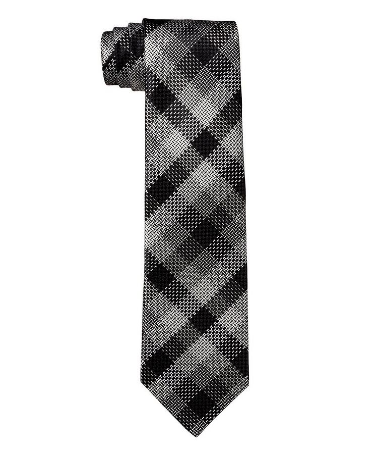 Checked Silk Tie image 0