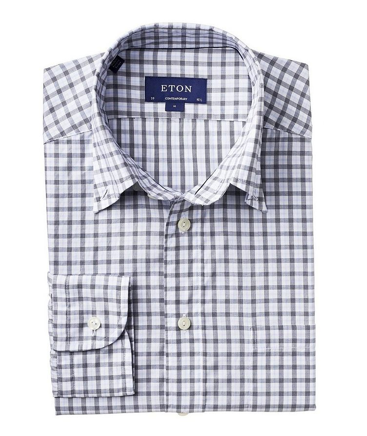 Soft Contemporary Fit Checked Cotton Shirt image 0