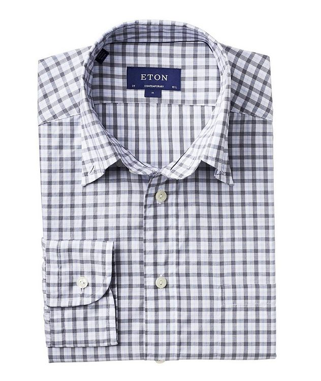 Soft Contemporary Fit Checked Cotton Shirt picture 1