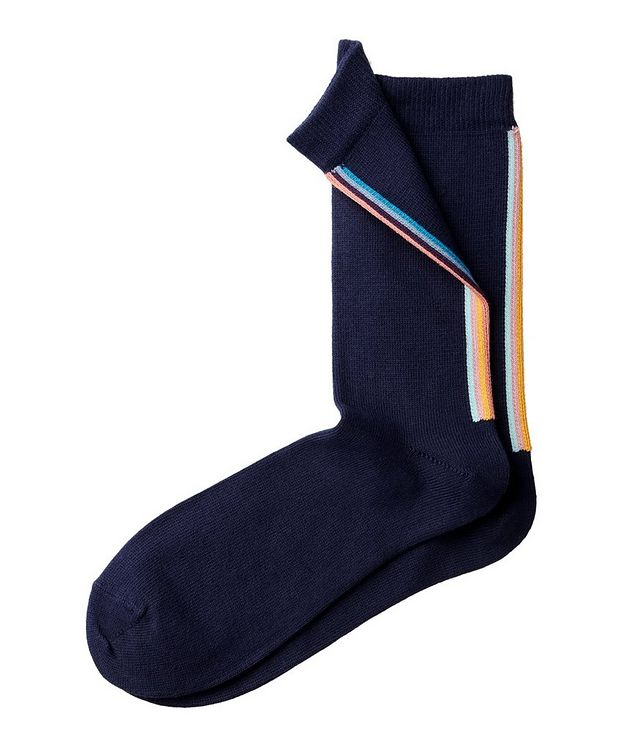 Chaussettes rayées en mélange de coton picture 2