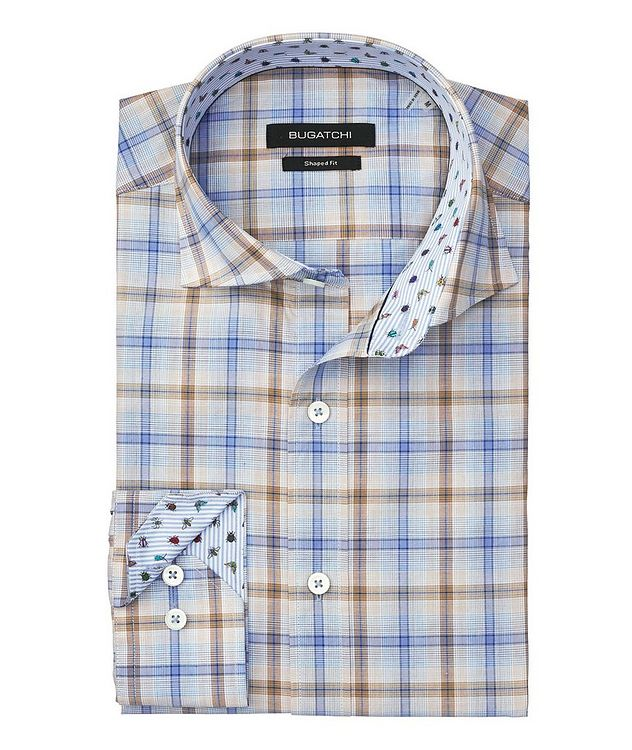 Windowpane Checked Cotton Shirt picture 2
