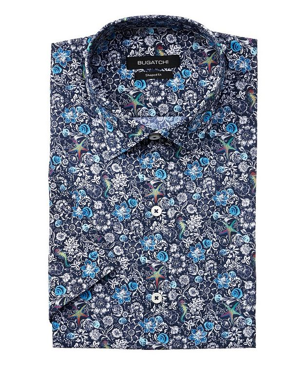 Short-Sleeve Printed Cotton Shirt picture 1