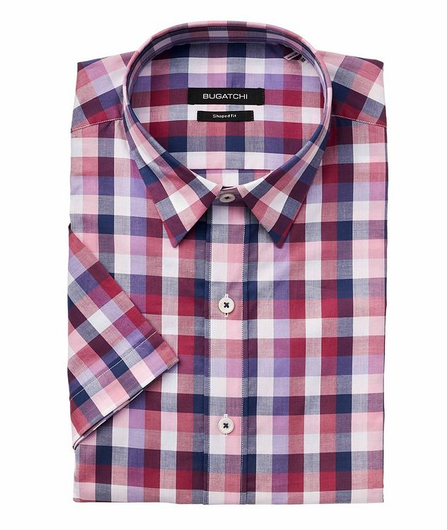 Short-Sleeve Checked Cotton Shirt picture 1