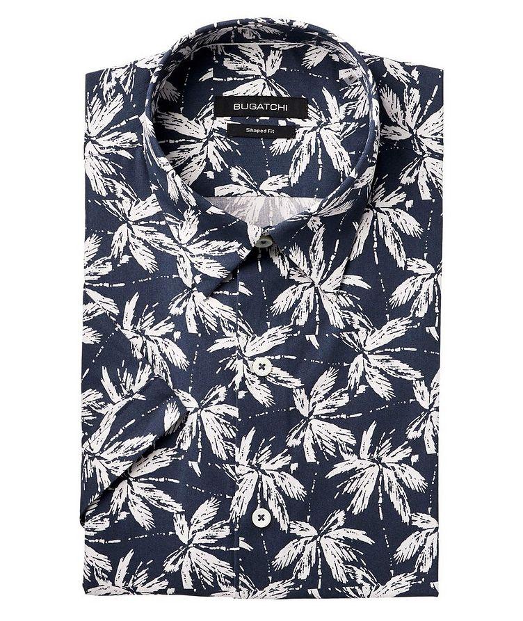 Short-Sleeve Palm Print Cotton Shirt image 0
