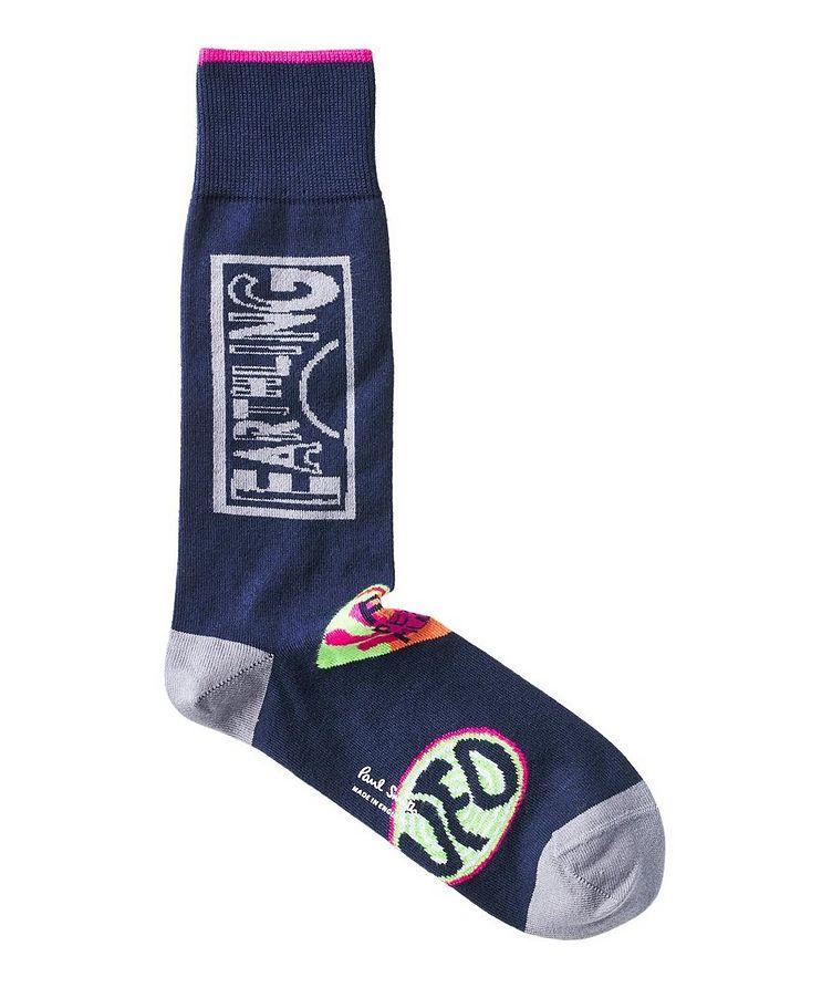 Chaussettes imprimées en mélange de coton image 3