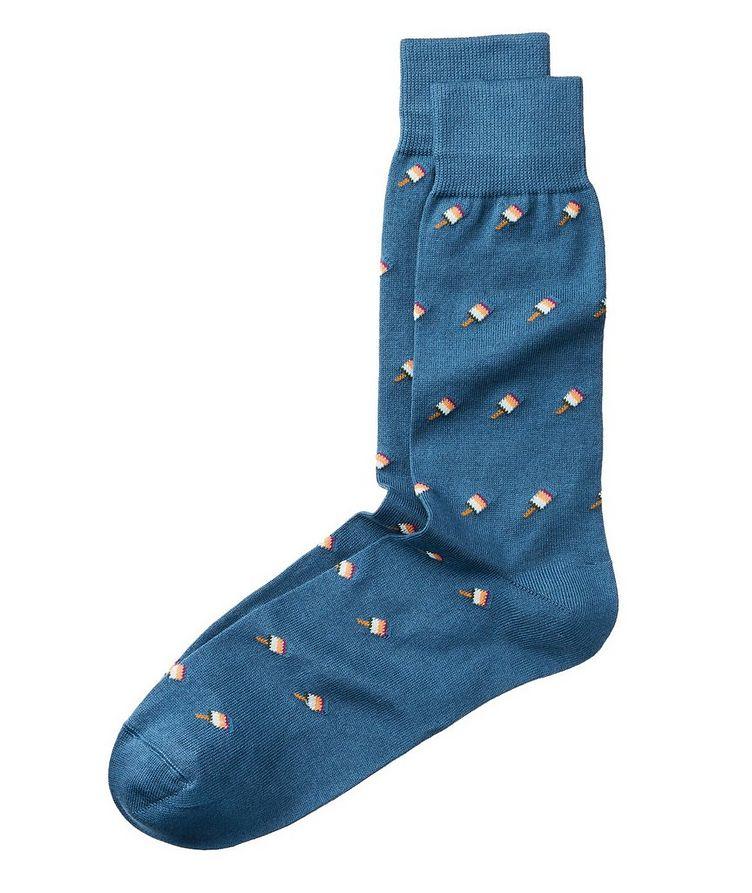Chaussettes imprimées en coton image 0