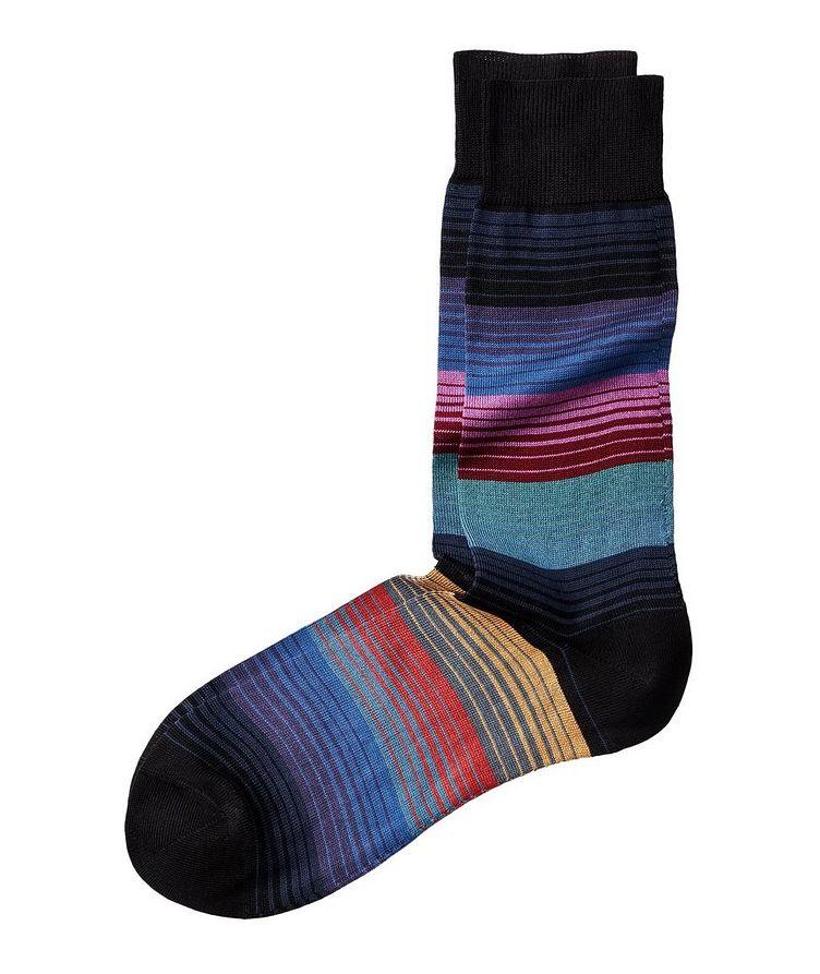 Chaussettes rayées en mélange de coton mercerisé image 0