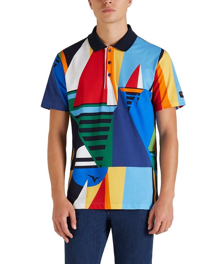 Printed Cotton Piqué Polo image 3