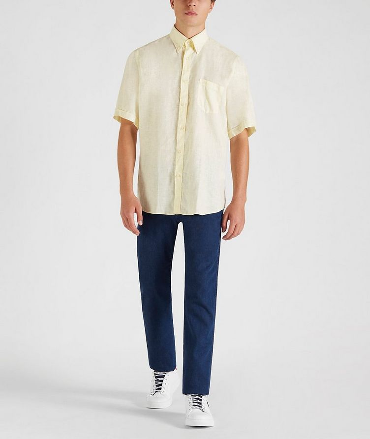 Short-Sleeve Linen Shirt image 4