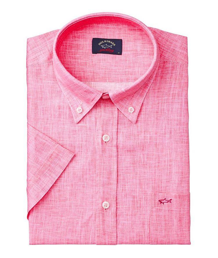 Short-Sleeve Linen Shirt image 0