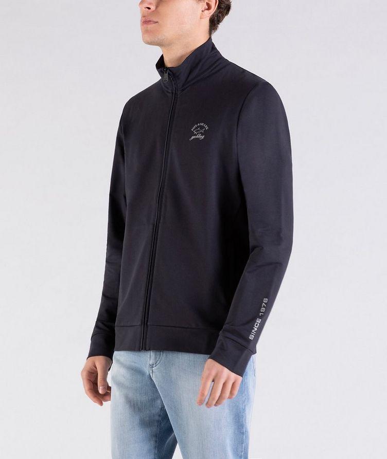 Zip-Up Stretch-Cotton Sweatshirt image 1