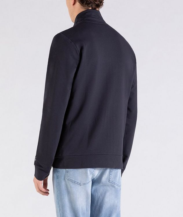Zip-Up Stretch-Cotton Sweatshirt picture 3