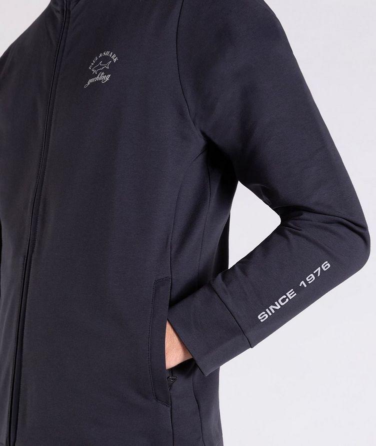 Zip-Up Stretch-Cotton Sweatshirt image 3