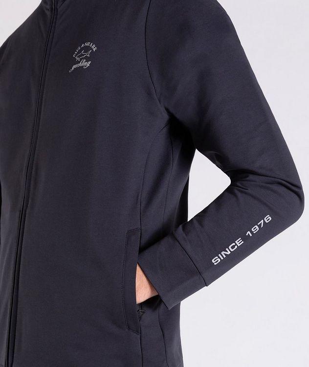 Zip-Up Stretch-Cotton Sweatshirt picture 4