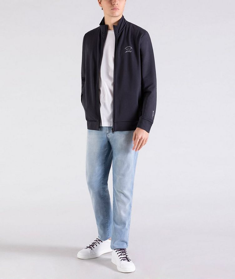 Zip-Up Stretch-Cotton Sweatshirt image 4