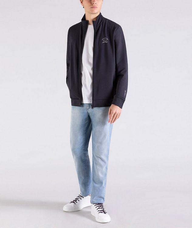 Zip-Up Stretch-Cotton Sweatshirt picture 5