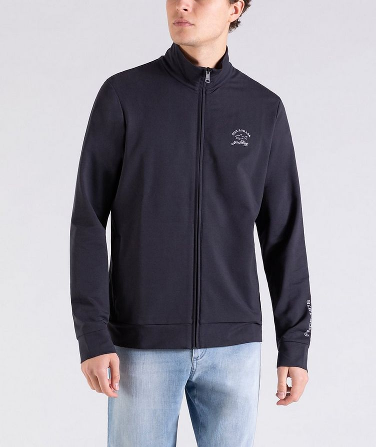 Zip-Up Stretch-Cotton Sweatshirt image 0