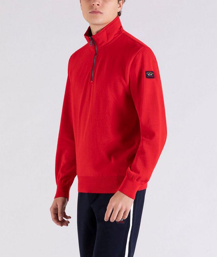 Pull en tricot de coton à demi-glissière image 1