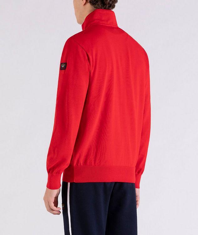 Pull en tricot de coton à demi-glissière picture 3