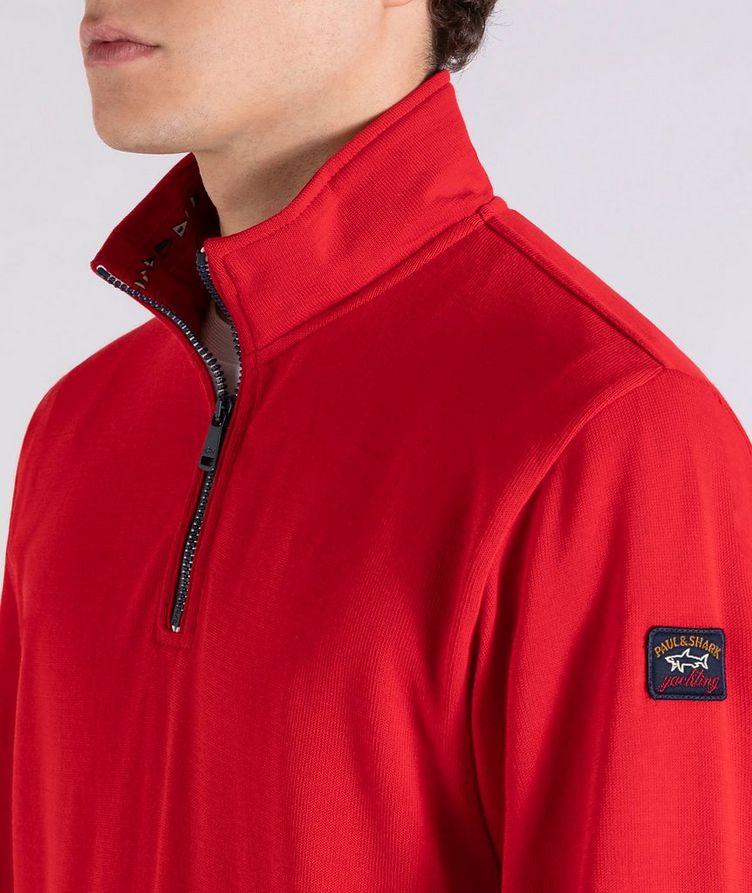Pull en tricot de coton à demi-glissière image 3