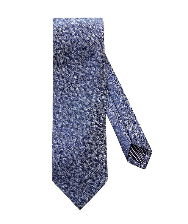 Floral Printed Silk-Linen Tie picture 1
