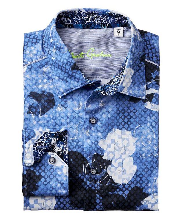 Geometric Botanical-Printed Stretch-Cotton Shirt picture 2