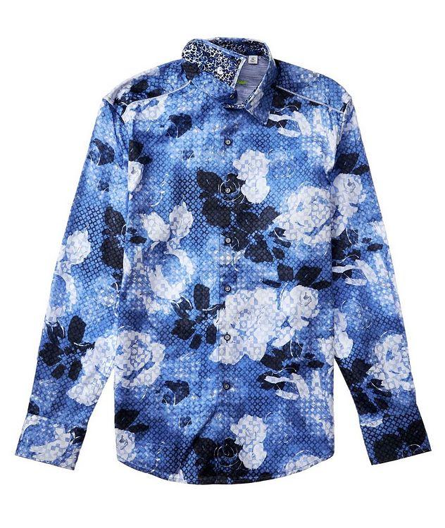 Geometric Botanical-Printed Stretch-Cotton Shirt picture 3