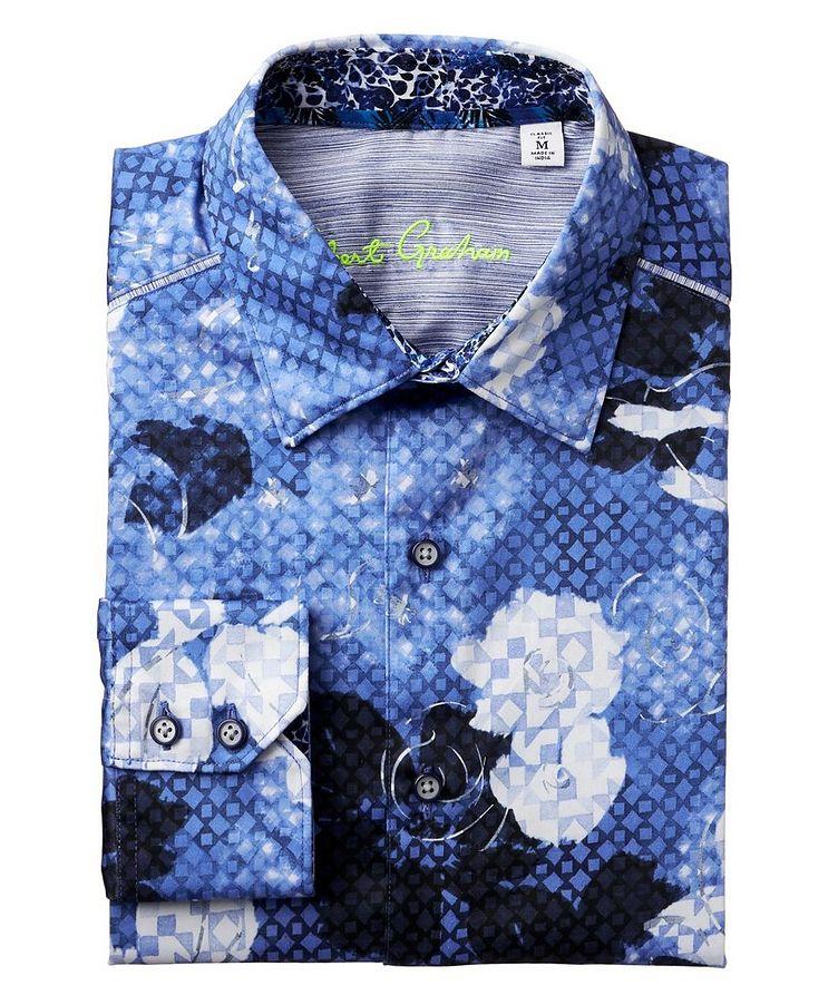 Geometric Botanical-Printed Stretch-Cotton Shirt image 0