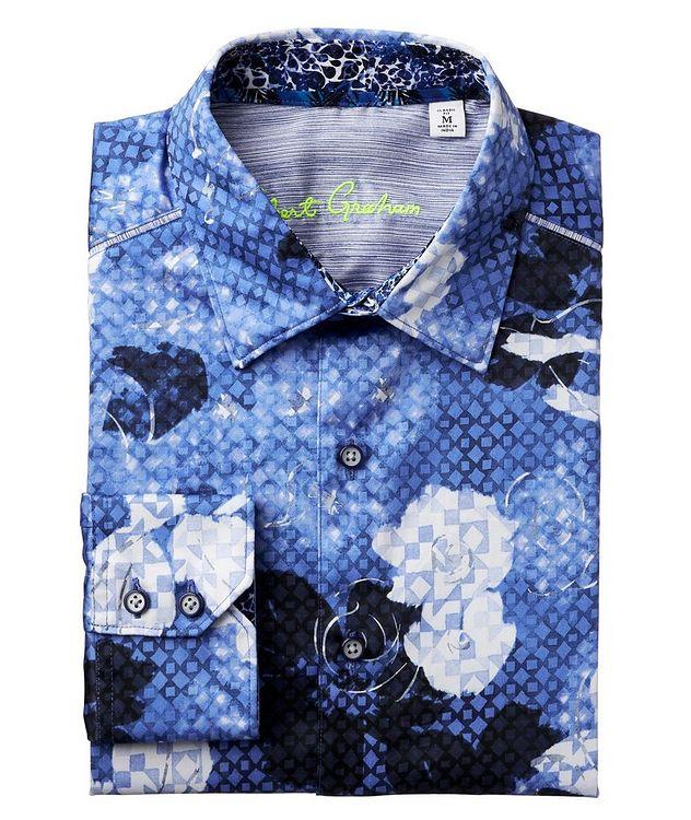 Geometric Botanical-Printed Stretch-Cotton Shirt picture 1