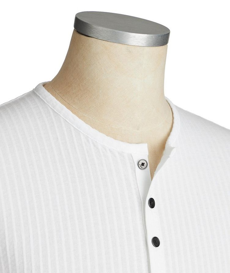 Short-Sleeve Cotton Henley image 1