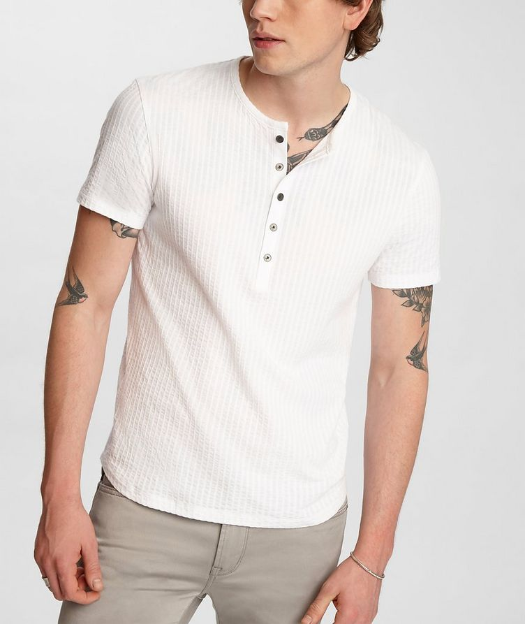 Short-Sleeve Cotton Henley image 3