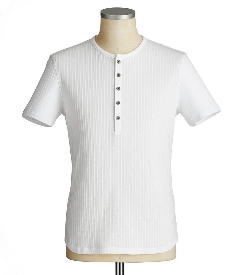 Short-Sleeve Cotton Henley image 0
