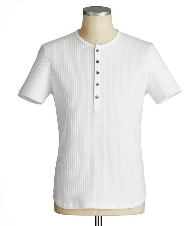 Short-Sleeve Cotton Henley picture 1