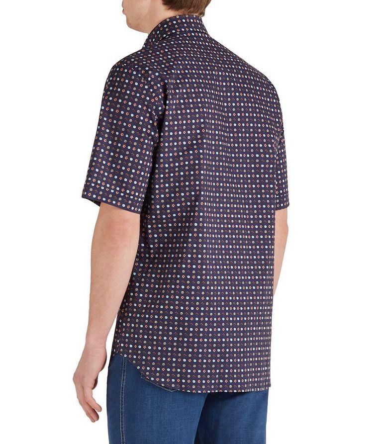 Short-Sleeve Botanical Cotton Shirt image 1