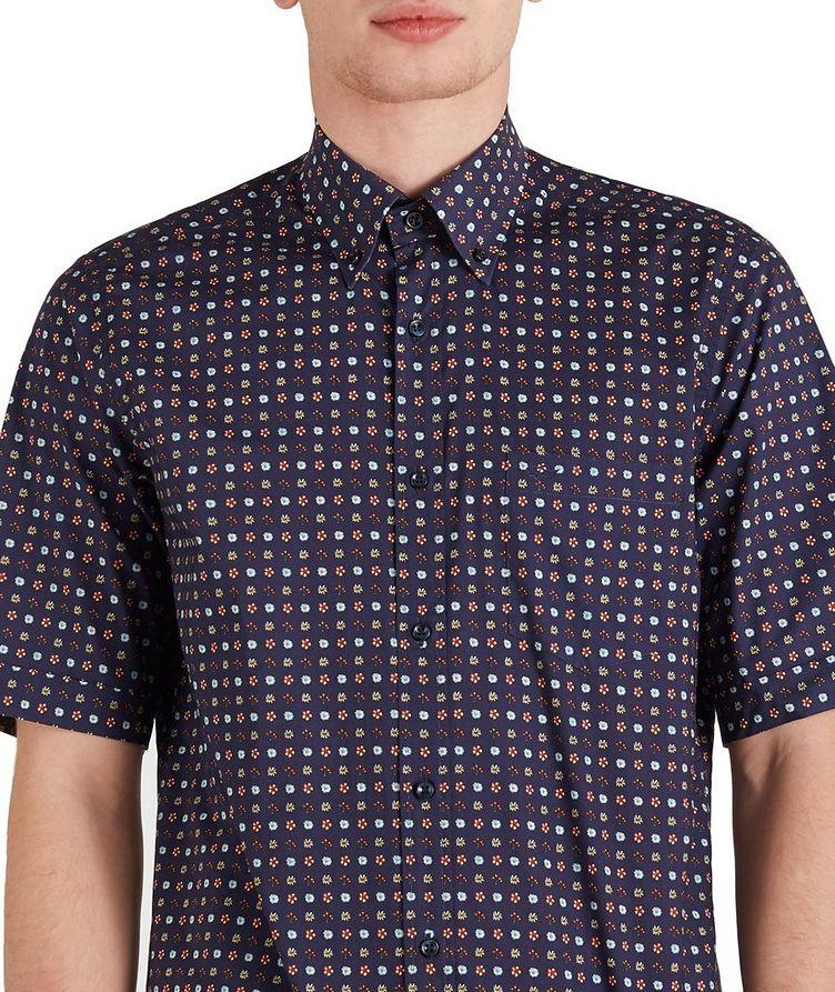 Short-Sleeve Botanical Cotton Shirt image 2