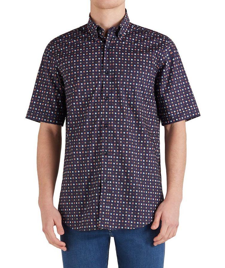 Short-Sleeve Botanical Cotton Shirt image 0