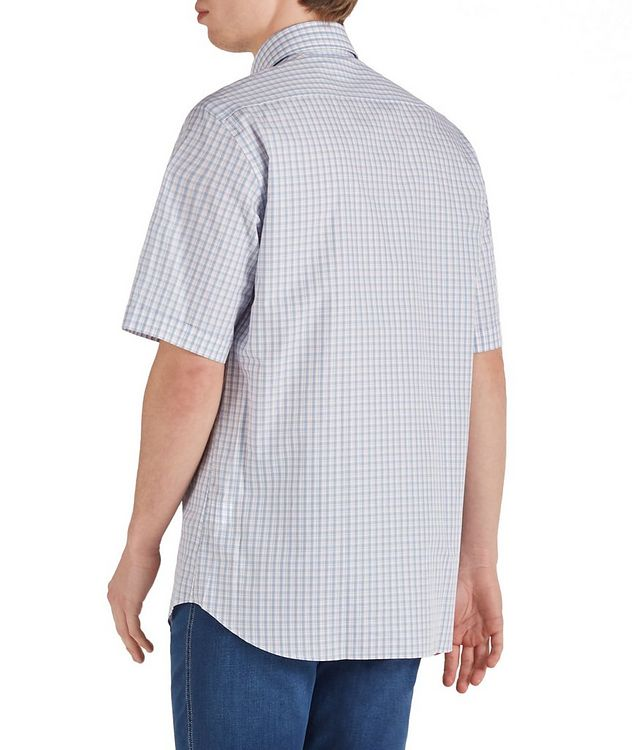 Short-Sleeve Checked Cotton Shirt picture 2