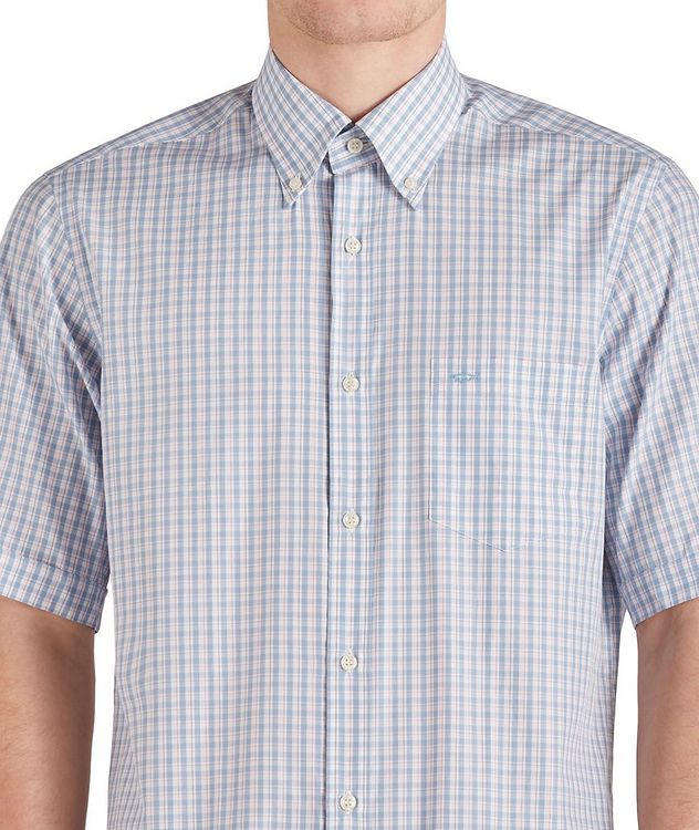 Short-Sleeve Checked Cotton Shirt picture 3